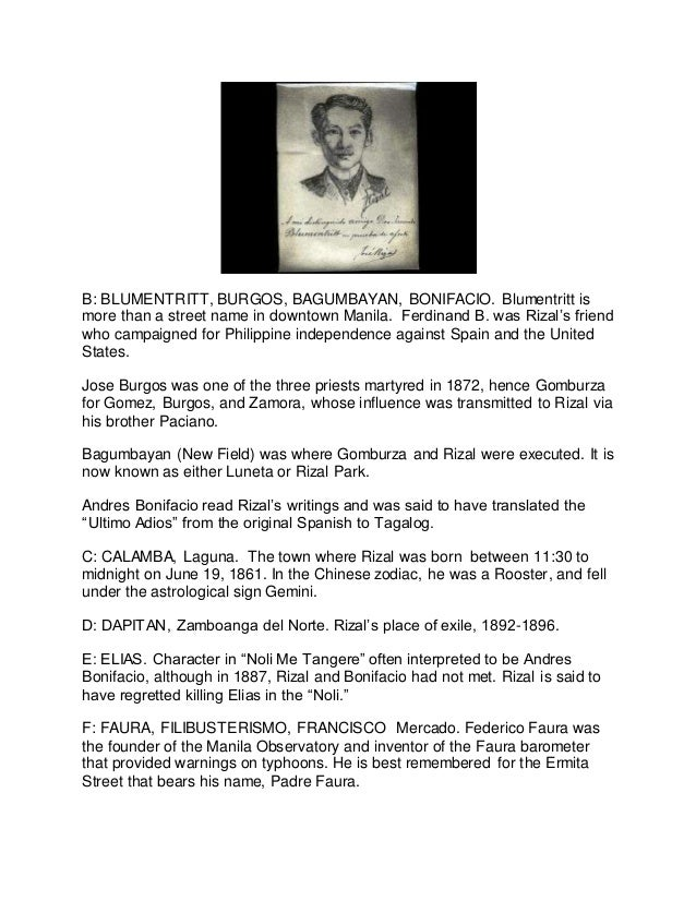 reaction paper rizal martyrdom in bagumbayan Nation observes rizal day to recall the nationalism and martyrdom of  dr  jose p rizal, who was executed by firing squad in bagumbayan.