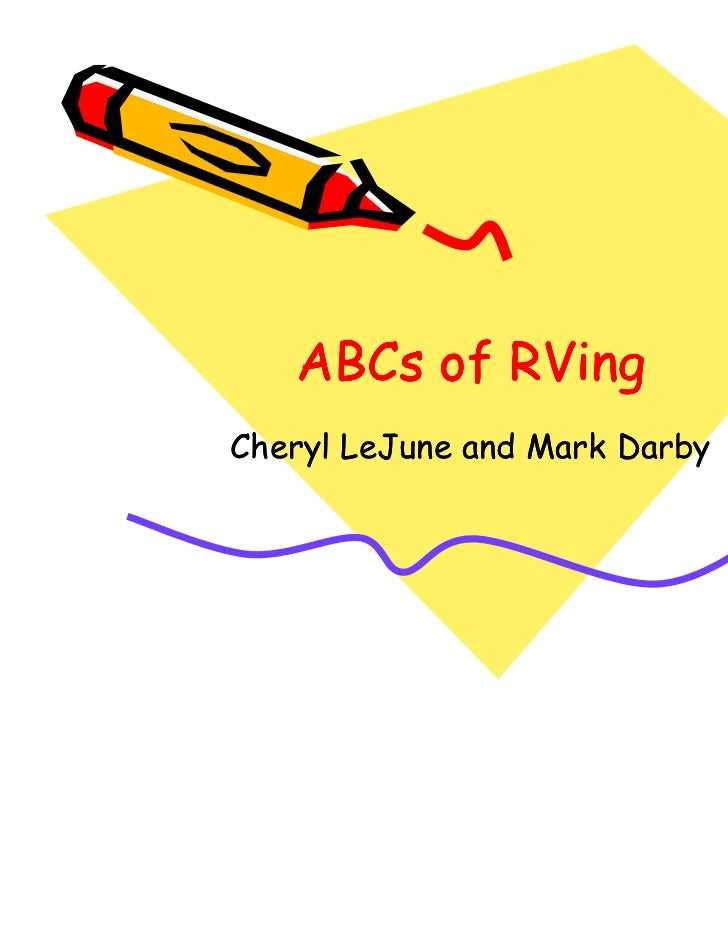 ABCs of RVingCheryl LeJune and Mark Darby