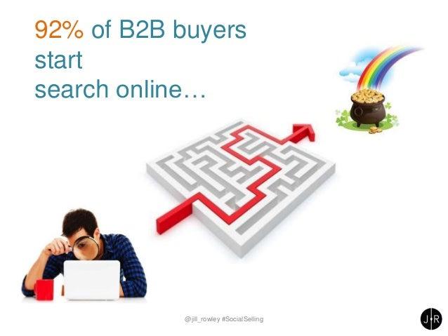 92% of B2B buyers start search online… @jill_rowley #SocialSelling
