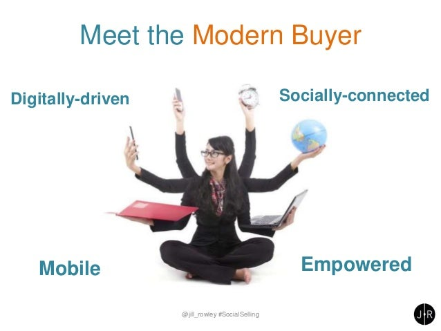 Meet the Modern Buyer @jill_rowley #SocialSelling Digitally-driven Socially-connected Mobile Empowered