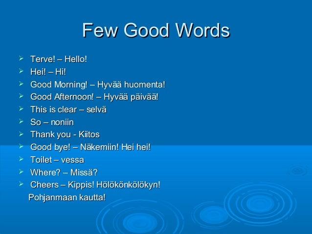 Hello In Finnish