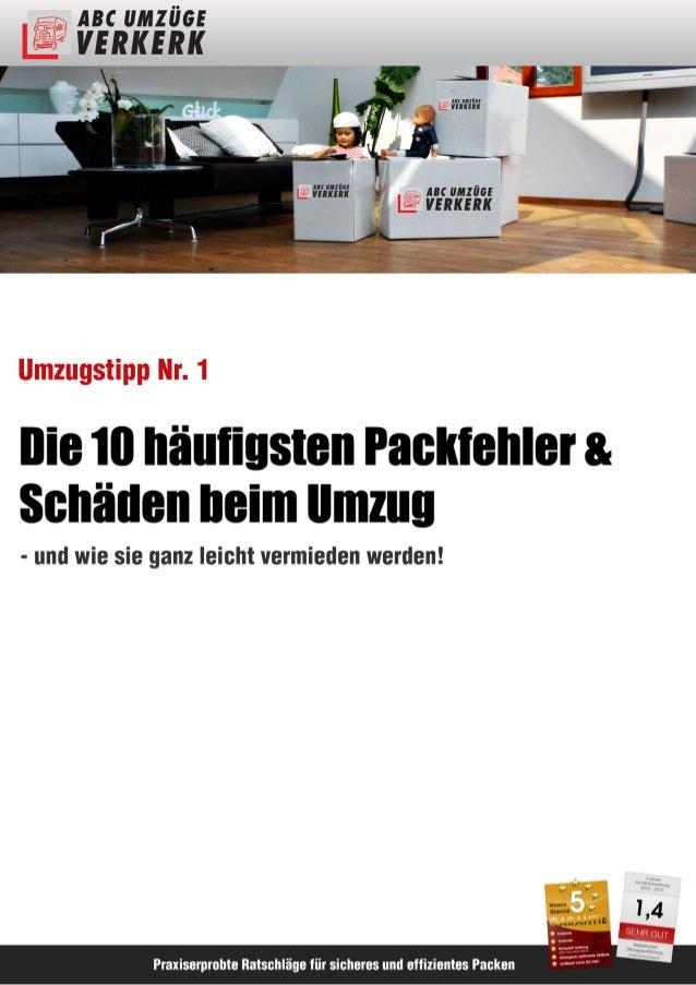 ABC Umzüge Verkerk Umzugstipp Nr. 1