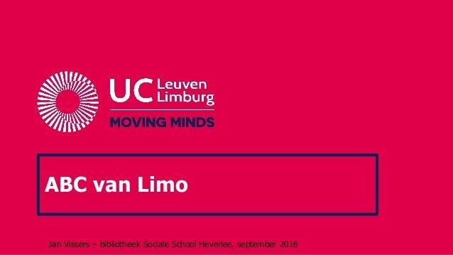 ABC van Limo Jan Vissers – bibliotheek Sociale School Heverlee, september 2016