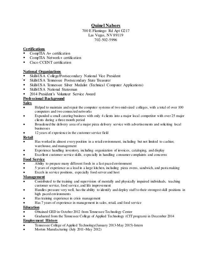 quinel resume
