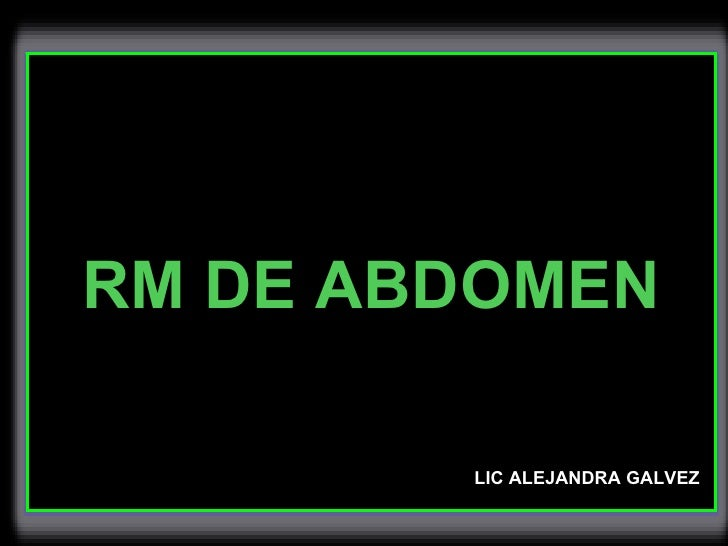 resonancia de abdomen