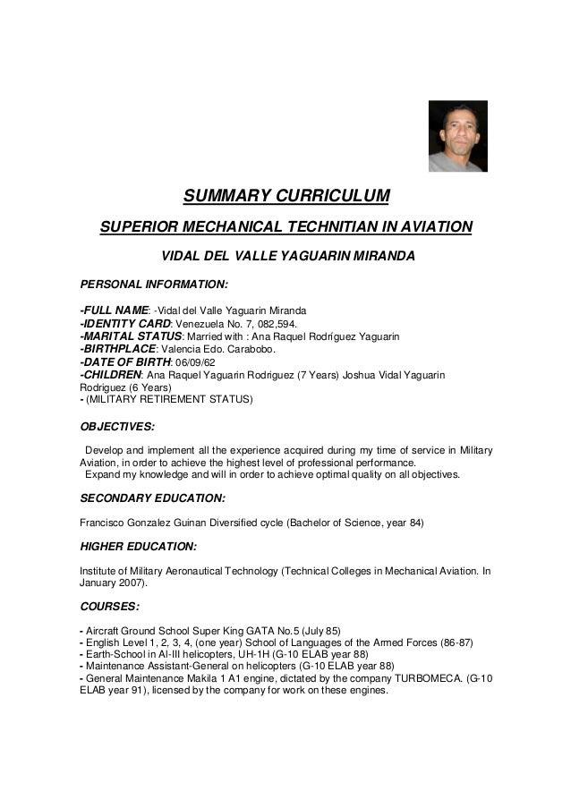 summary-curriculum-copia-1-638 Summarized Curriculum Vitae on what is, formato de, ejemplos de, resume or, high school,