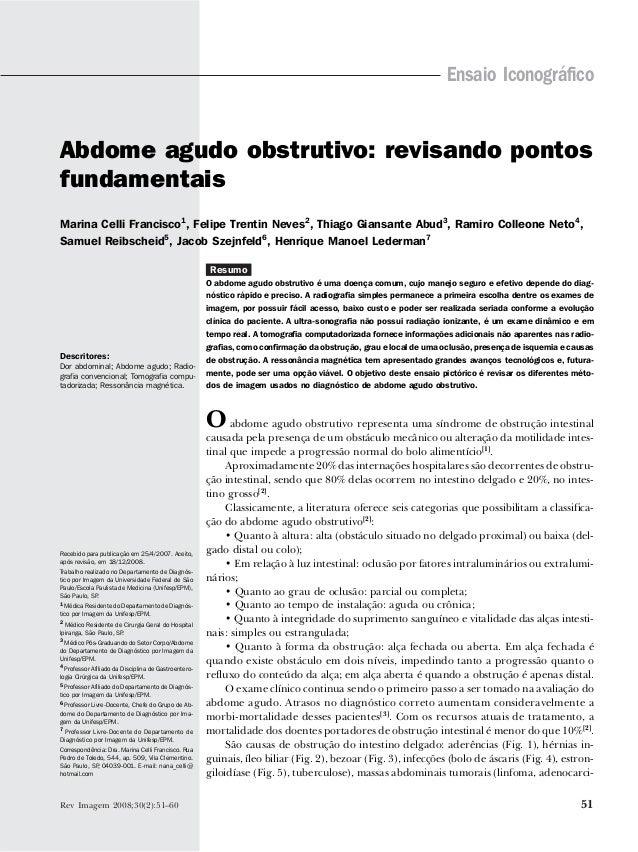 Abdome agudo obstrutivo / Francisco MC et al.                                                                             ...