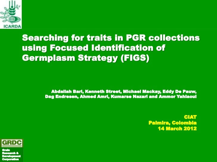 Searching for traits in PGR collections              using Focused Identification of              Germplasm Strategy (FIGS...
