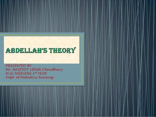 Abdellah's theory