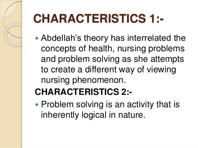 faye abdellah 21 nursing problems