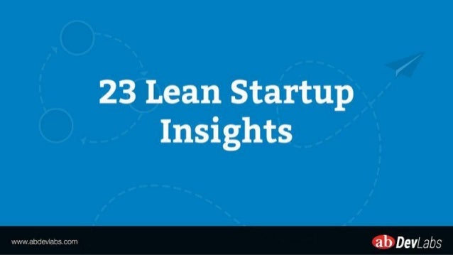 23 Lean Startup Insights