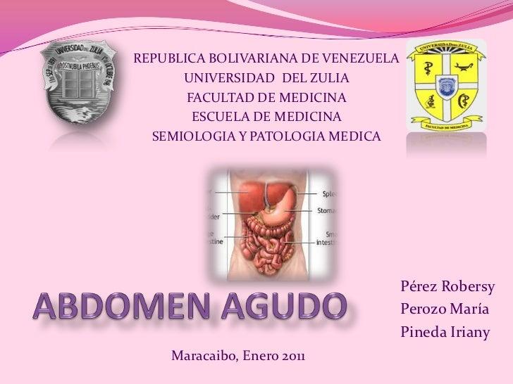 REPUBLICA BOLIVARIANA DE VENEZUELA<br />UNIVERSIDAD  DEL ZULIA<br />FACULTAD DE MEDICINA<br />ESCUELA DE MEDICINA<br />SEM...