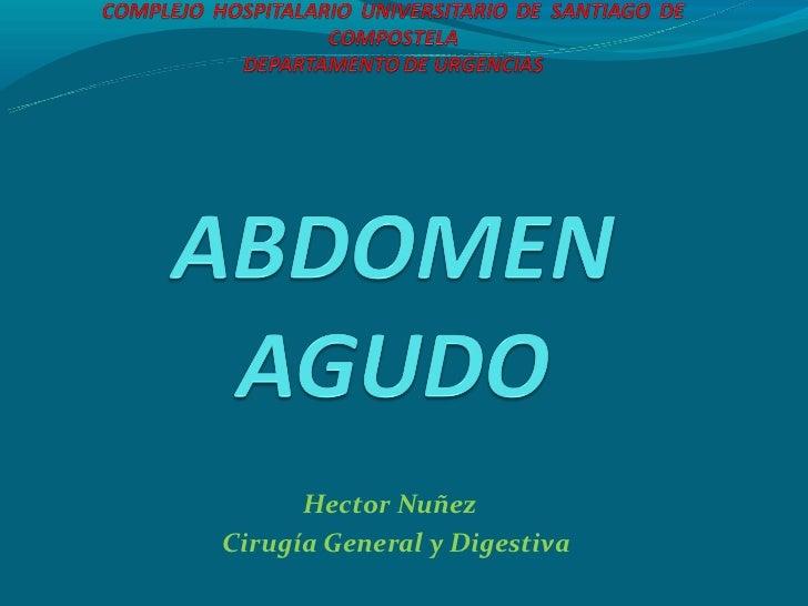 Hector NuñezCirugía General y Digestiva
