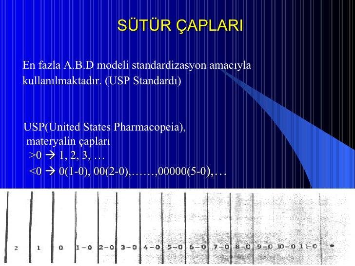 <ul><li>En fazla A.B.D modeli standardizasyon amacıyla </li></ul><ul><li>kullanılmaktadır.(USP Standardı)  </li></ul>SÜTÜ...