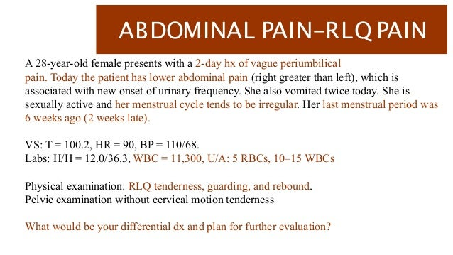 Abdominal pain after sexually active male