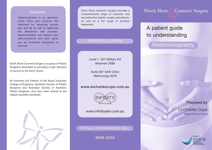 North Shore Cosmetic Surgery provides a                  SUMMARY                             comprehensive range of cosmet...