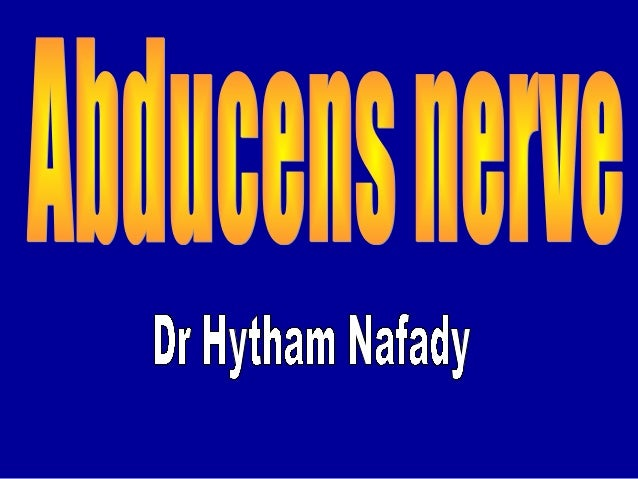 Introduction • Abducens nerve has only a somatic motor component (general somatic efferent) that supplies lateral rectus m...