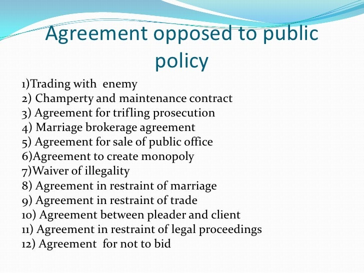 Public Policy Considerations In Property Law