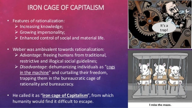 disadvantage of rationalization of society Weber described the eventual effects of rationalization in his economy and society as leading to a polar night which may offer subjective advantages to.