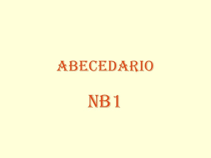 Abecedario nb1