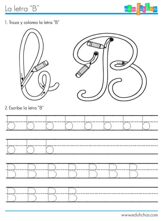 "Lo | etro °'B""  Ì.  Trozo y coloreo la Ieîro ""B""  2. Escribe lo Ieîro '8'     2.. .Iî. u.>.2..   o .  ..  2.. .} .  X. .. ..."