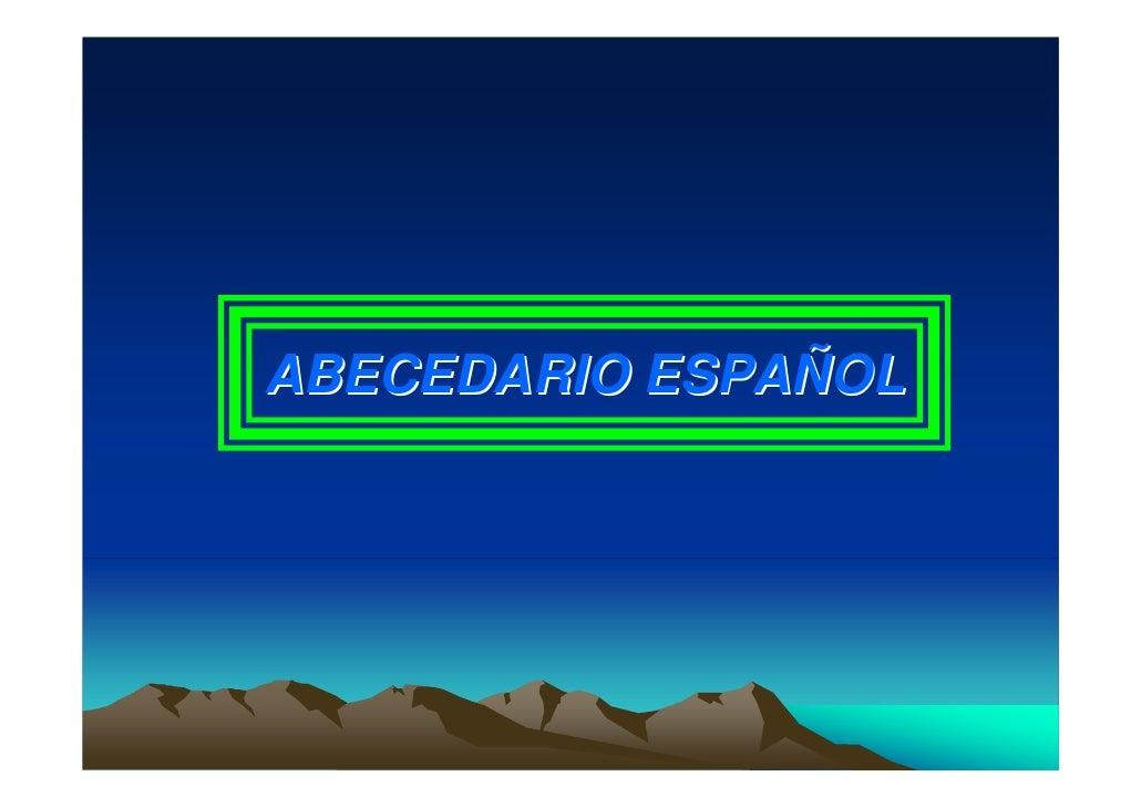 ABECEDARIO ESPAÑOL
