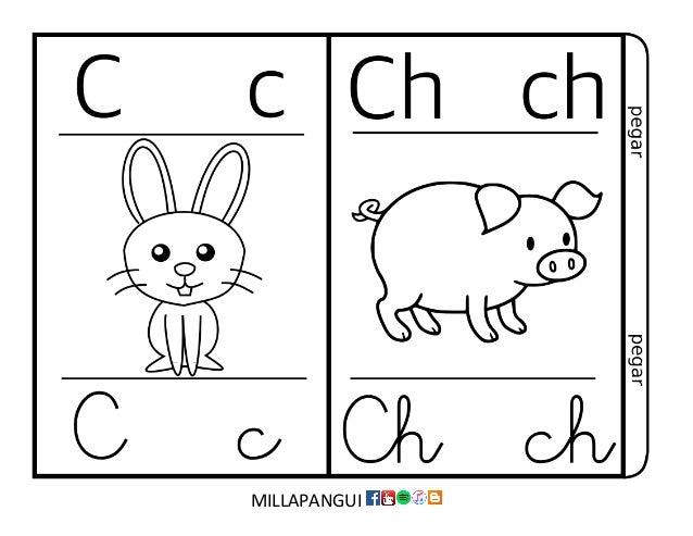 Abecedario para colorear - abecedario para decorar sala de clases