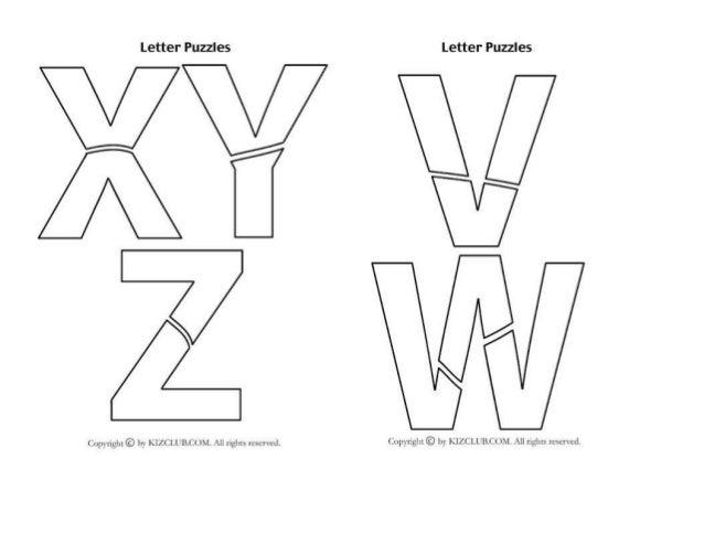 Abecedario de rompecabezas letter puzzles letter puzzles g ccuart Image collections