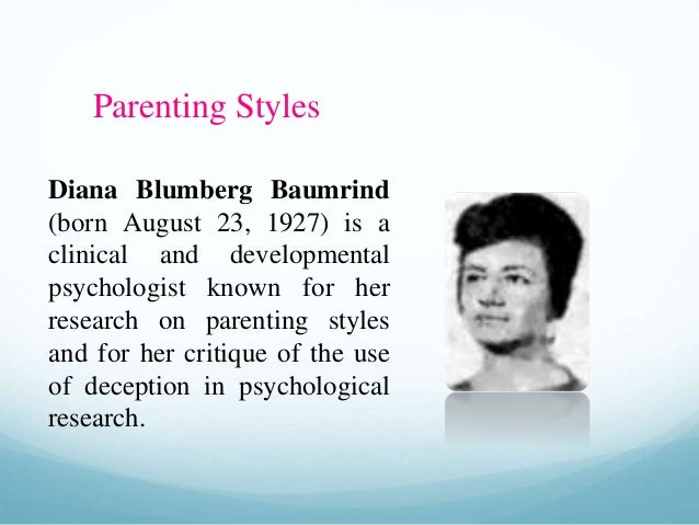 paternal and maternal parenting styles psychology essay Paternal depression may impair fathers' parenting behaviors (wilson & durbin, 2009), and may have negative consequences for the child's development, independent of maternal postnatal depression .