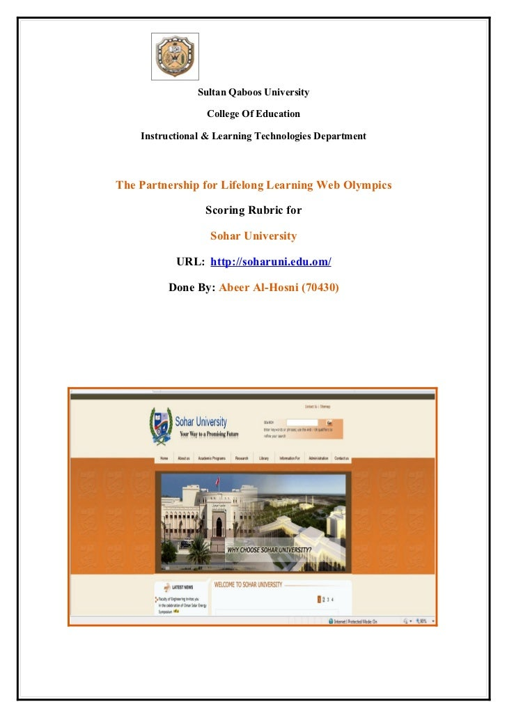 Sultan Qaboos University                  College Of Education    Instructional & Learning Technologies DepartmentThe Part...