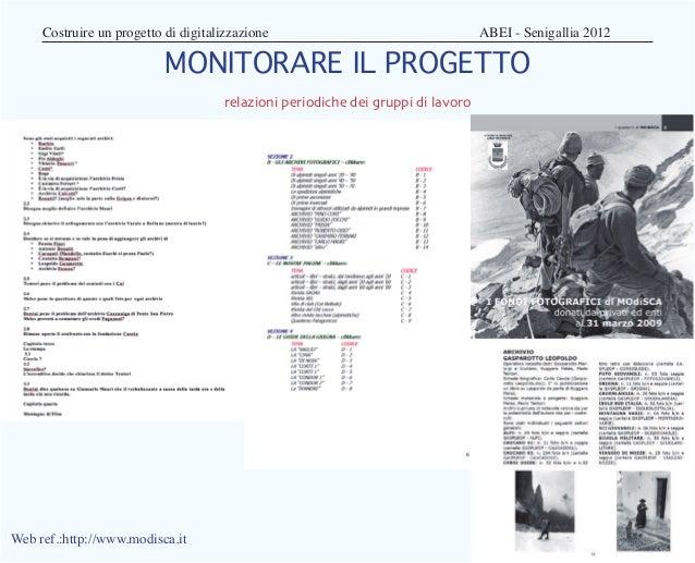 Costruire un progetto di digitalizzazione                          ABEI - Senigallia 2012                          MO...