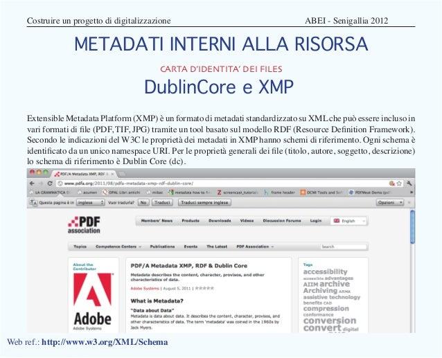 Costruire un progetto di digitalizzazione                                   ABEI - Senigallia 2012                 ME...