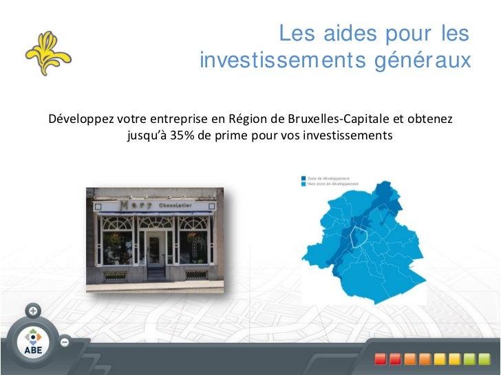 Les aides pour les                          investissements génér auxDéveloppez votre entreprise en Région de Bruxelles-Ca...