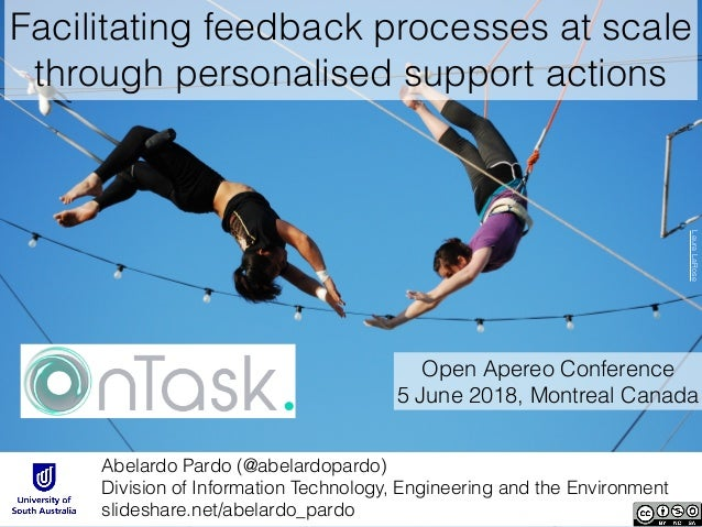 Facilitating feedback processes at scale through personalised support actions Abelardo Pardo (@abelardopardo)
