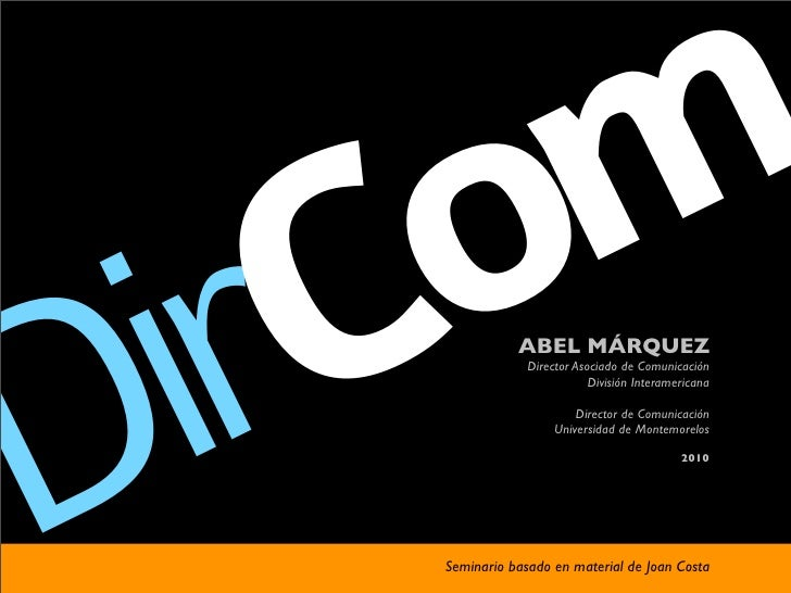 Com Dir           ABEL MÁRQUEZ                 Director Asociado de Comunicación                             División Inte...