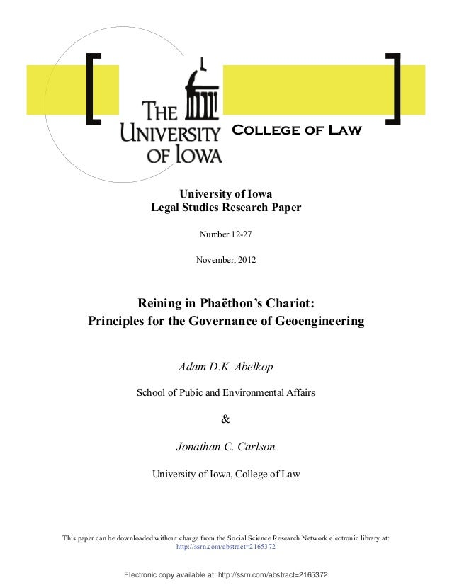 Electronic copy available at: http://ssrn.com/abstract=2165372 University of Iowa Legal Studies Research Paper Number 12-2...