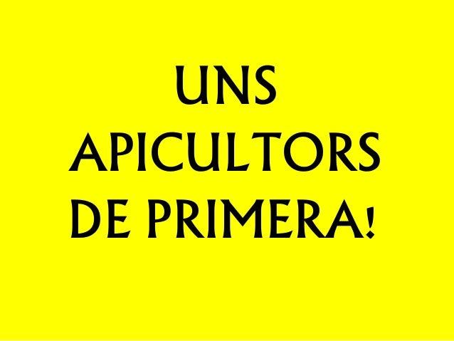 UNS APICULTORS DE PRIMERA!