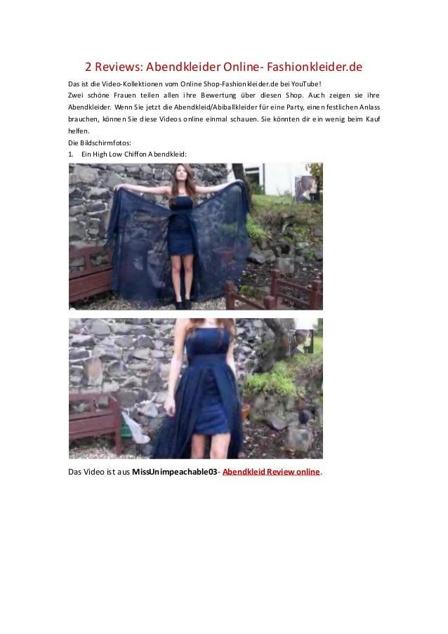 2 Reviews: Abendkleider Online- Fashionkleider.deDas ist die Video-Kollektionen vom Online Shop-Fashionkleider.de bei YouT...
