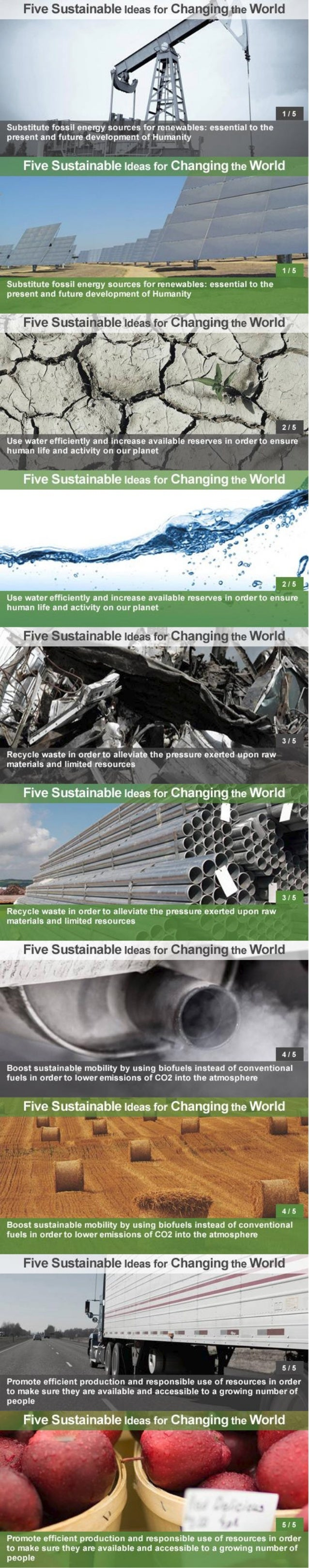 Abengoa 5 ideas for a more sustainable world
