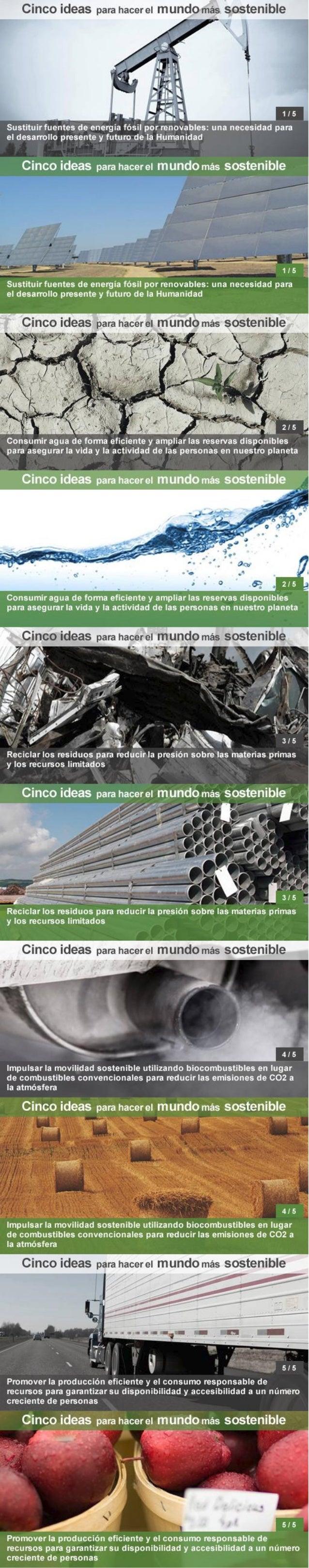 Abengoa 5 ideas para un mundo más sostenible
