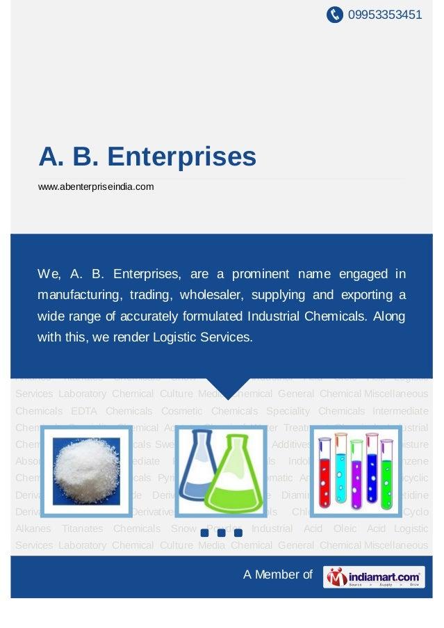 09953353451     A. B. Enterprises     www.abenterpriseindia.comLaboratory     Chemical     Culture   Media    Chemical    ...