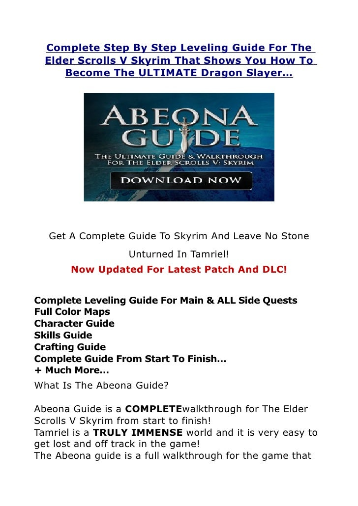 Complete Step By Step Leveling Guide For The  Elder Scrolls V Skyrim That Shows You How To     Become The ULTIMATE Dragon ...