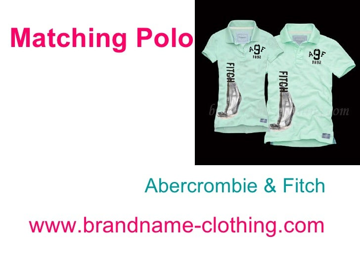 Matching Polo   Abercrombie & Fitch www.brandname-clothing.com