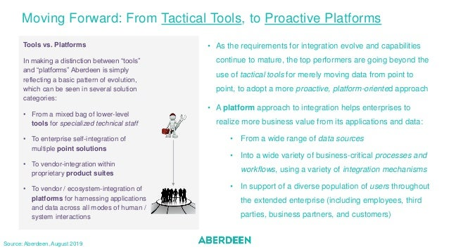 """Tools vs. Platforms In making a distinction between """"tools"""" and """"platforms"""" Aberdeen is simply reflecting a basic pattern ..."""