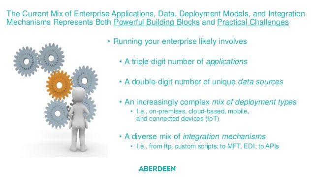 The Current Mix of Enterprise Applications, Data, Deployment Models, and Integration Mechanisms Represents Both Powerful B...