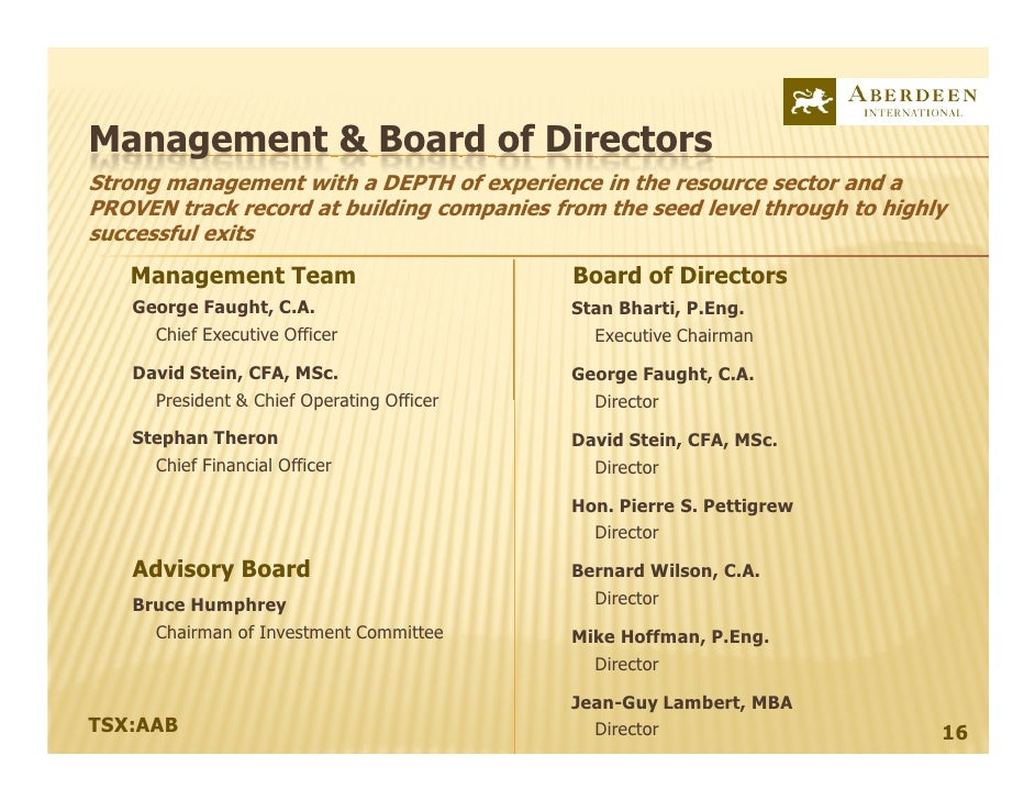 A Global Resource Investment Corporation and Merchant Bank<br />TSX:AAB<br />June 2010 - AGM<br />A Forbes & Manhattan Gro...