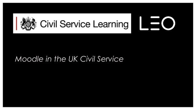 Moodle in the UK Civil Service