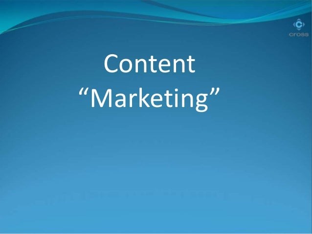 "Content ""Marketing"""