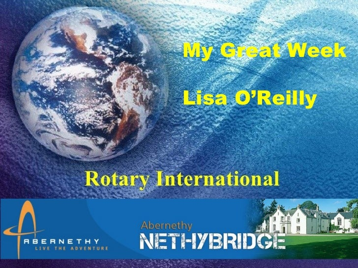 My Great Week                                                 Lisa O'Reilly           Click to edit Master subtitle style1...