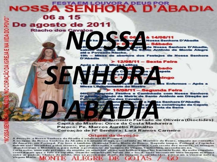 NOSSA SENHORA D'ABADIA